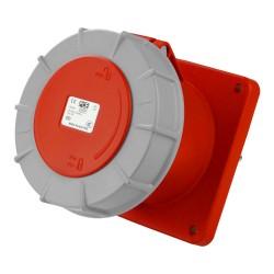 Anbausteckdose 125A 5P Einbausteckdose gerade 6h 400V IP67 Anbaudose rot grau Twist Typ 345 PCE 0674
