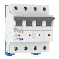 Leitungsschutzschalter C13A 3-Polig+N 4P 10kA VDE Sicherung Automat LS-Schalter SEZ 1743