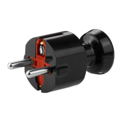 Schutzkontaktstecker 230V 16A schwarz