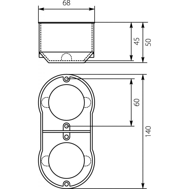 Berühmt Schalterdose Unterputzdose Dose Einbaudose 60mm 13.70 PKw-2 doppel RJ39