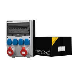 Baustromverteiler TD-S/FI 2x32A 4x230V franz/belg System Doktorvolt 9344