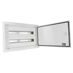 Verteilerkasten IP54 DARP-48 2x24 Unterputz Alutür Unterverteiler Sicherungskasten 9.224 E-P 6743