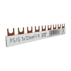 1P Phasenschiene Gabel 9-polig 12mm2 PS/G Schiene Sammelschiene 80A DV 2893