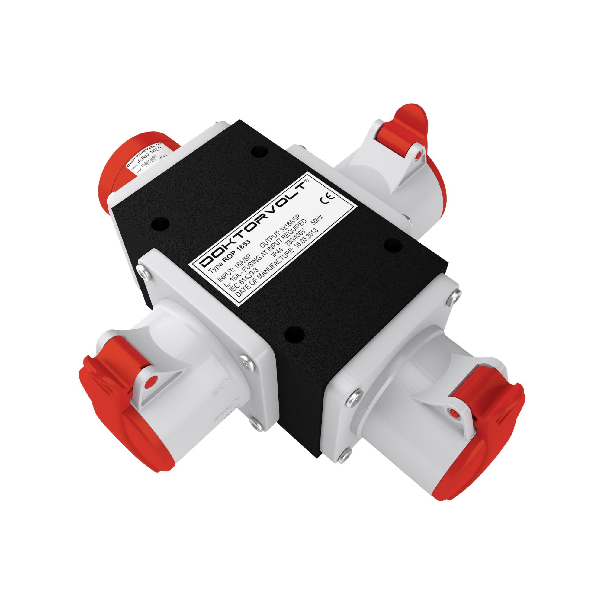 Adapter Mobil 16A Stromverteilung Stromverteiler Steckdosenleiste CEE