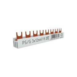 3P Phasenschiene Gabel 8-polig 12mm² PS/G Schiene Sammelschiene 80A DV 6701