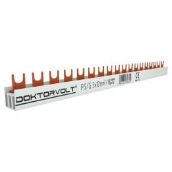 3P Phasenschiene Gabel 18-polig 12mm² PS/G Schiene Sammelschiene 80A DV 6619