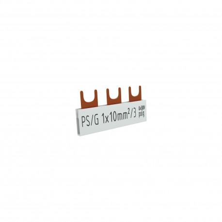 1P Phasenschiene Gabel 3-polig 10mm2
