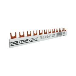 1P Phasenschiene Gabel 12-polig 16mm² PS/G Schiene Sammelschiene 100A Schteiner 6251
