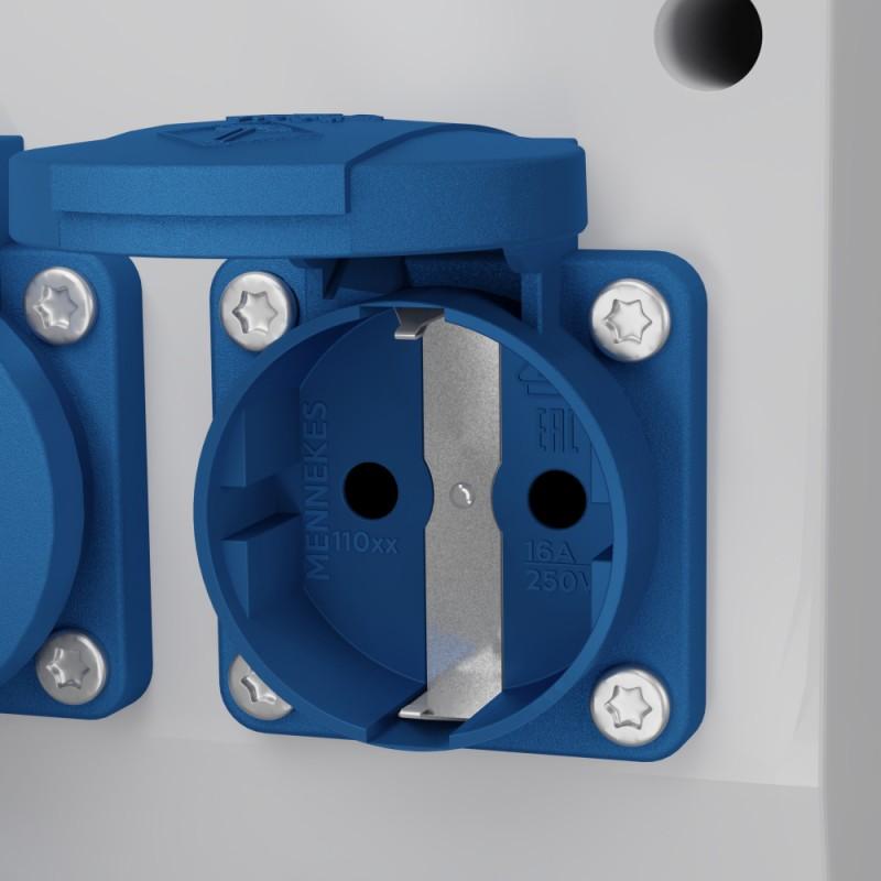 Stromverteiler 6x230V Wandverteiler Baustromverteiler Gartensteckdose FRED 2978