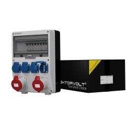 Stromverteiler TD-S 2x32A 4x230 Schuko