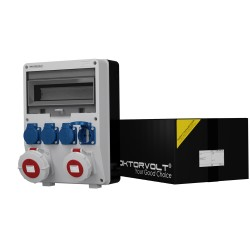 Stromverteiler TD 2x32A/5P 4x230V
