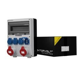 Stromverteiler TD 2x32A 4x230V franz/belgische System Baustromverteiler Wandverteiler 2435