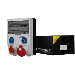 Stromverteiler  TD-S/FI 1x63A 1x16A 2x230V franz/belg System Baustromverteiler Wandverteiler 2473