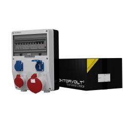 Stromverteiler TD-S/FI 1x63A 1x16A 2x230V franz/belg System Doktorvolt 2473