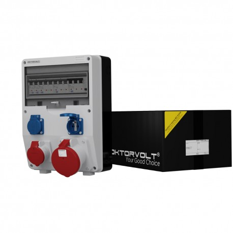 Stromverteiler  TD-S/FI 1x63A 1x16A 2x230V franz/belg System