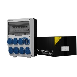 Stromverteiler TD-S/FI 8x230V Fi-Schalter 25A 30mA 2-Polig TYP A Doktorvolt 2824