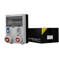 Stromverteiler TD-S 1x16A 1x32A 2x230V IP65 Wandverteiler Baustromverteiler Doktorvolt® 6046