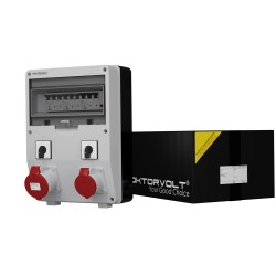 Baustromverteiler TD-S/FI 1x32A 1x16A 2 x Nockenschalter L-O-P Doktorvolt® 6053