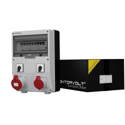 Stromverteiler TD-S/FI 1x32A 1x16A 2 x Nockenschalter Doktorvolt® 6053