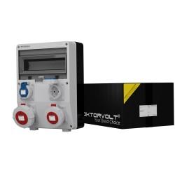 Stromverteiler TD 1x16A 1x32A 2x230V IP65 Wandverteiler Baustromverteiler Doktorvolt® 6664