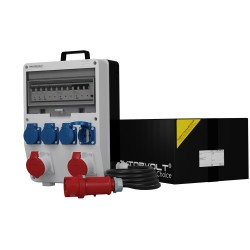 Stromverteiler TD-S/FI 2x16A/5P 4x230V