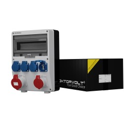 Stromverteiler TD 16A 32A 4x230V franz/belgische System Wandverteiler Baustromverteiler 6855