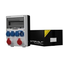 Stromverteiler TD 2x16A 4x230V franz/belg System Wandstromverteiler Baustromverteiler 6879