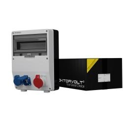 Stromverteiler TD 1x16A 2x230V franz/belgische System Wandverteiler Baustromverteiler 6886