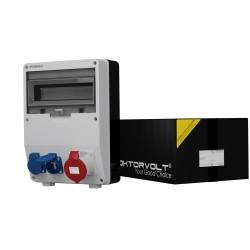 Stromverteiler TD 1x32A 2x230V franz/belg System Baustromverteiler Wandverteiler 6909