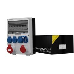Baustromverteiler TD-S/FI 16A 32A 4x230V franz/belg System Doktorvolt 6916