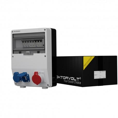 Stromverteiler TD-S/FI 1x16A 2x230V franz/belg System