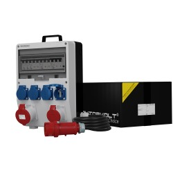 Stromverteiler TD-S/FI 16A 32A 4x230V franz/belg System 5x4mm2 SKH Doktorvolt 6978