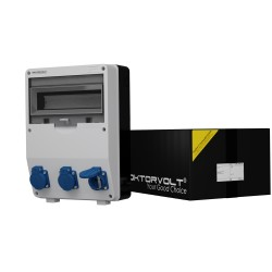 Stromverteiler TD 3x230V Wandverteiler Baustromverteiler Doktorvolt® 9009