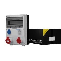 Stromverteiler TD 32A/5P 16A/5P 2x230V 16A/3P Schweizer System Typ 23 IP44