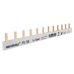 1P Phasenschiene Stift 12-polig 16mm² PS/S doppelseitig isoliert Schiene Sammelschiene 100A DV 9450