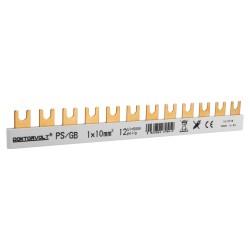 1P Phasenschiene Gabel 12-polig 10mm2 PS/GB Schiene Sammelschiene 63A DV 9412