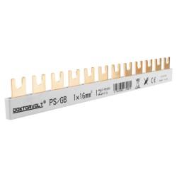 1P Phasenschiene Gabel 12-polig 16mm2 PS/GB Schiene Sammelschiene 100A DV 9405