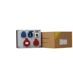 Stromverteiler 32A 16A 2x230V + Nockenschalter 0-1