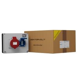 Wanddose WDD 1x32A 1x230V franz/belg System