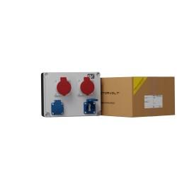Stromverteiler 2x16A 2x230V franz/belg Norm Wandverteiler Baustromverteiler Gartensteckdose FRED 2336