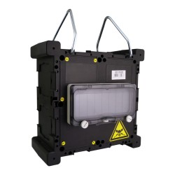 Stromverteiler mit Griff und Betätigungsklappe Minibox Hängeverteiler 215x215x120 TpE 0937
