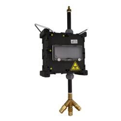 Hängeverteiler mit Druckluft Pendel Stromverteiler mit Betätigungsklappe Minibox TpE 5468