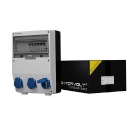 Stromverteiler TD-S/FI 3x230V FI 40A 4P Doktorvolt® 9030