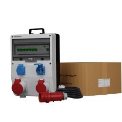 Baustromverteiler ECO-S/FI 1x32A 1x16A 2x230V franz/belg System 5x4mm2 SKH Doktorvolt 9764