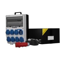 Stromverteiler TD-S/FI 8x230V franz/belg System 5x4mm2 SKH Doktorvolt® 9726