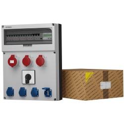 Stromverteiler GR-S/FI 1x32A 2x16A 4x230V Nockenschalter 0-1 franz/belg System