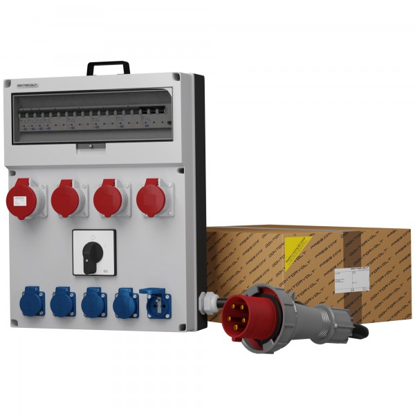 fuse distribution box main switch distribution board power box gr s fi 32a 3x16a 5x230v franz  fi 32a 3x16a 5x230v franz