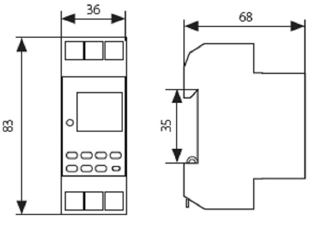 digitale zeitschaltuhr wochenzeitschaltuhr f r hutschiene 0998 ebay. Black Bedroom Furniture Sets. Home Design Ideas