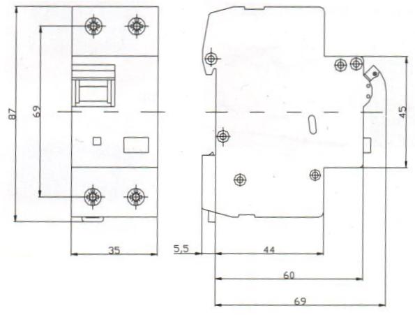 sez fi ls b6 30ma 2p 10ka rcbo fi ls schalter 0090610 kombi schalter sez 0011 ebay. Black Bedroom Furniture Sets. Home Design Ideas