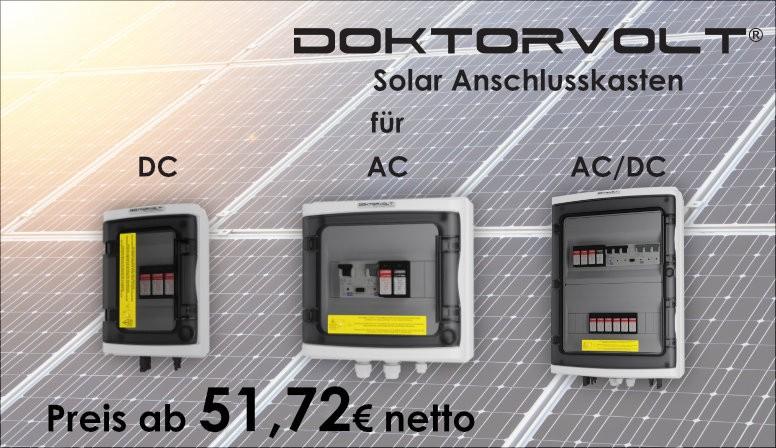 DOKTORVOLT Solar Anschlusskasten